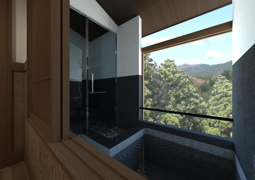 露天風呂付客室一例