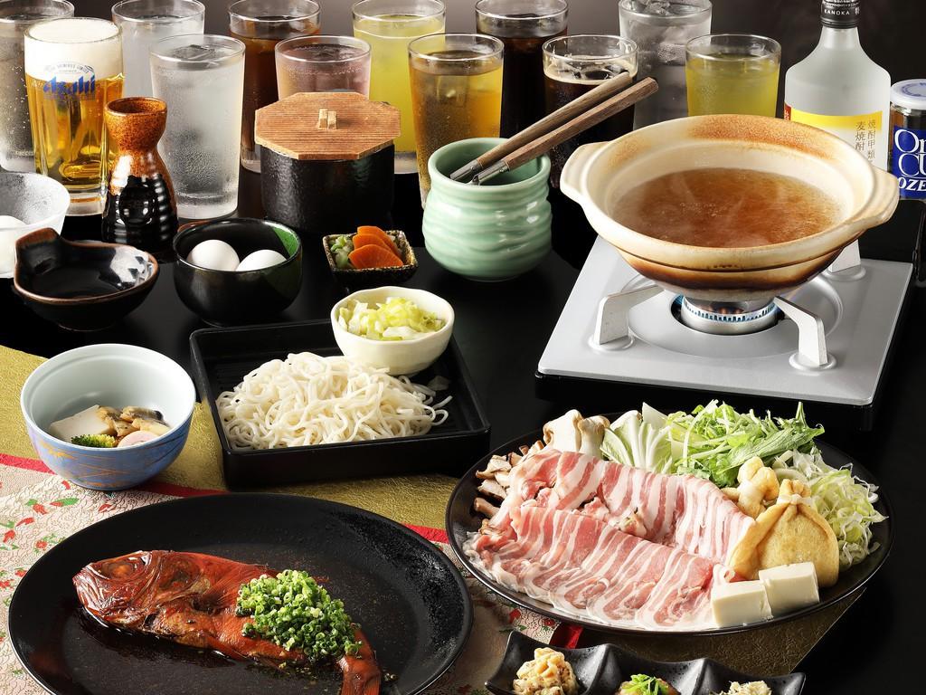 メインのお料理は一の湯定番のしゃぶしゃぶです。