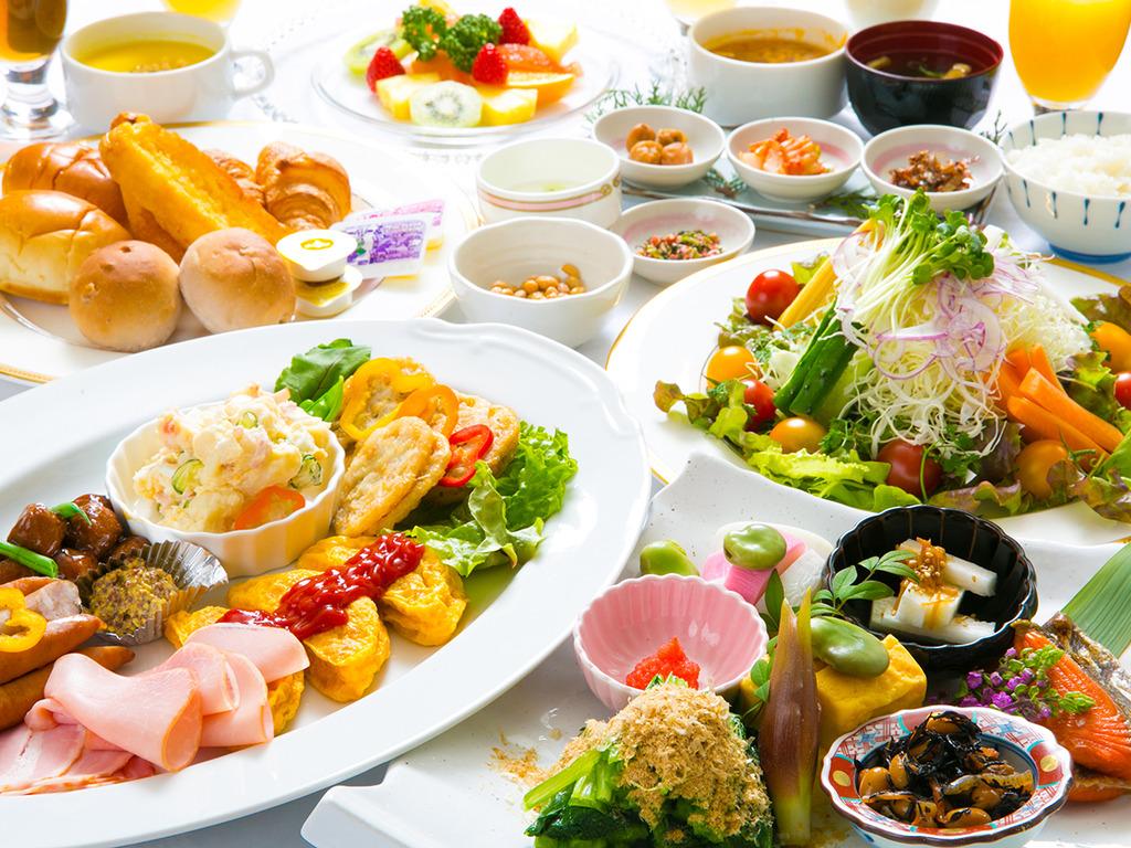 【朝食】和洋バイキングで博多の素敵な一日をスタート!