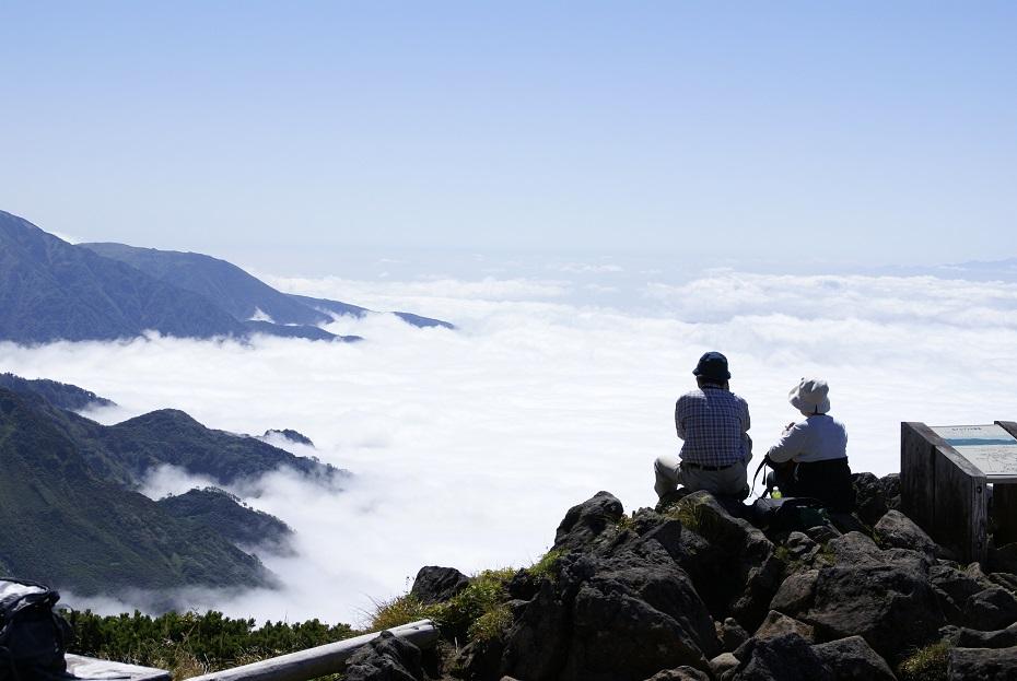 室堂山展望台からの風景。