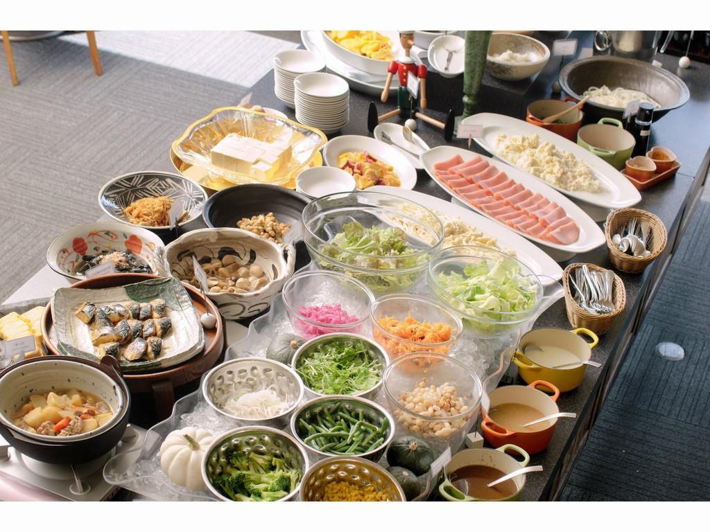 50品目の和洋朝食バイキング(人気のホテルバイキングで爽やかな朝をお迎えください♪)