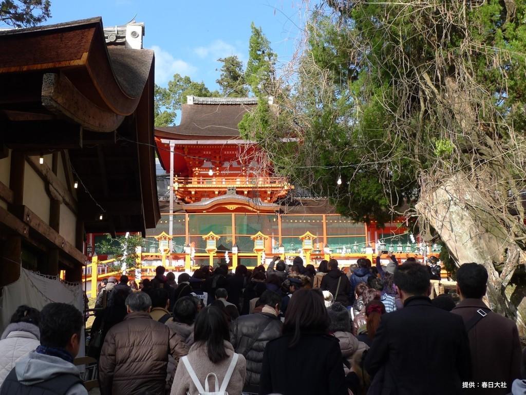 お正月 春日大社 中門              (写真提供:春日大社)