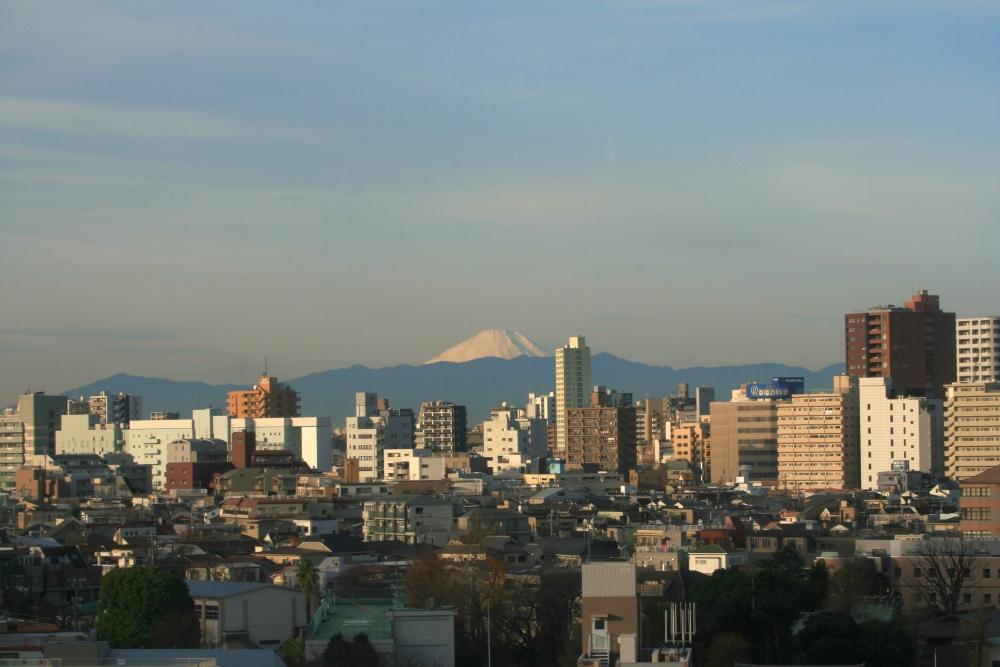 客室から見える富士山。空気の澄んだ冬の時期、一部の客室より見られます。
