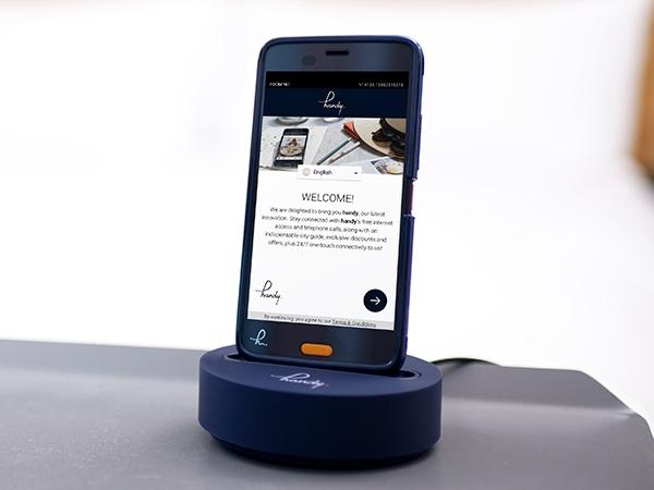 全客室 無料スマートフォン「handy」設置