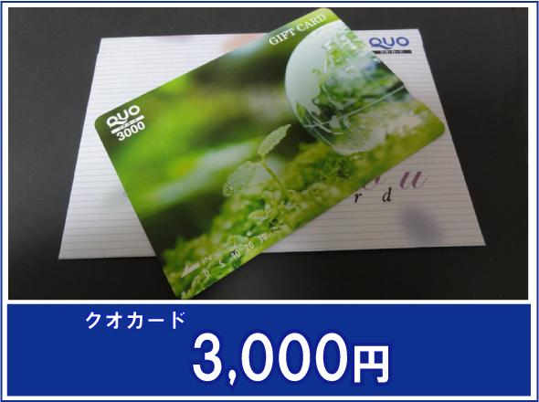 クオカード3000円(イメージ)