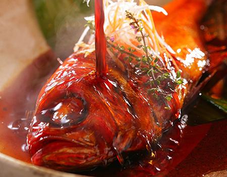 このプラン限定!金目鯛の姿煮