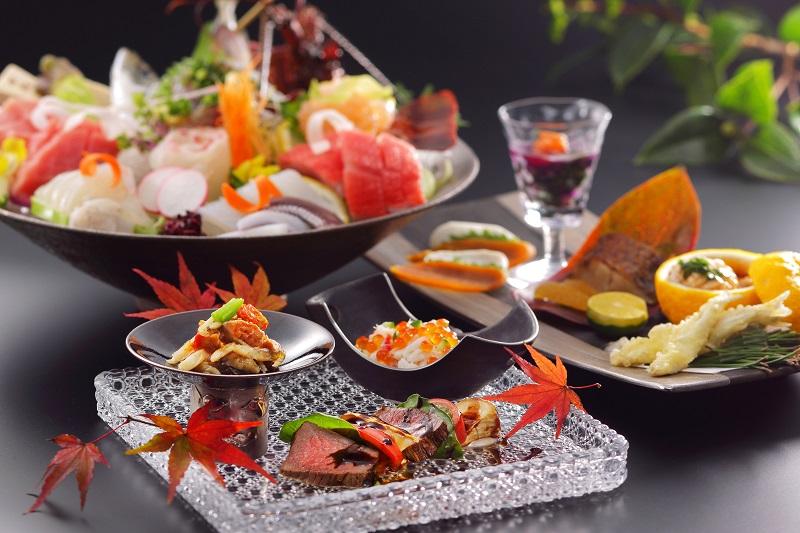巧みな技より生み出される贅な極みをコース料理で演出 (一例:内容は季節により異なります。)