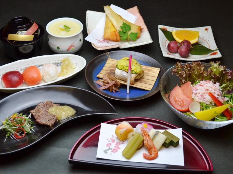 【花遊膳】手毬寿司が可愛い〜スパジェンヌコース