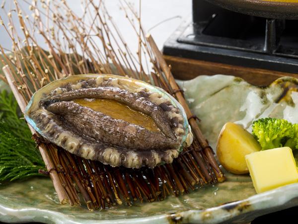 アワビの陶板焼き 一例