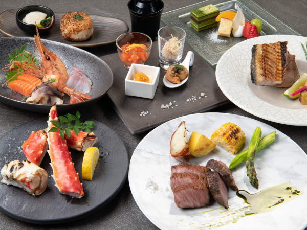 特大タラバ蟹と北海道和牛の饗宴※イメージ