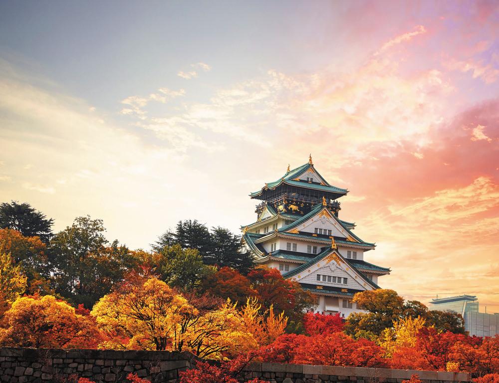 紅葉の大阪城