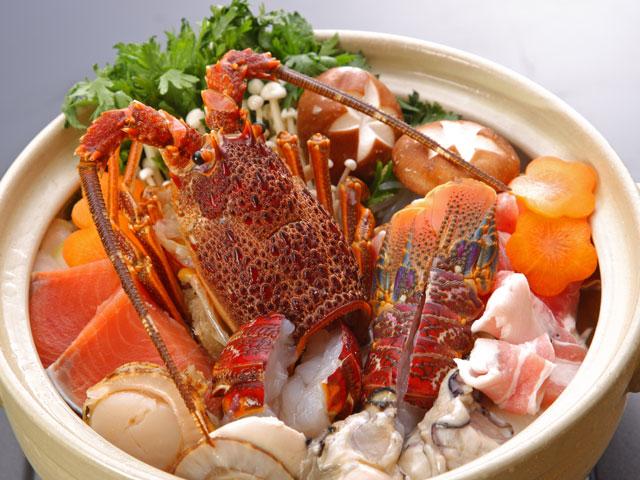 ロブスター、帆立、鮭、豚、牡蠣など海鮮たっぷり!