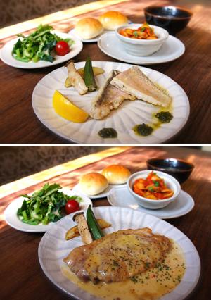 お魚とお肉のプチコース。