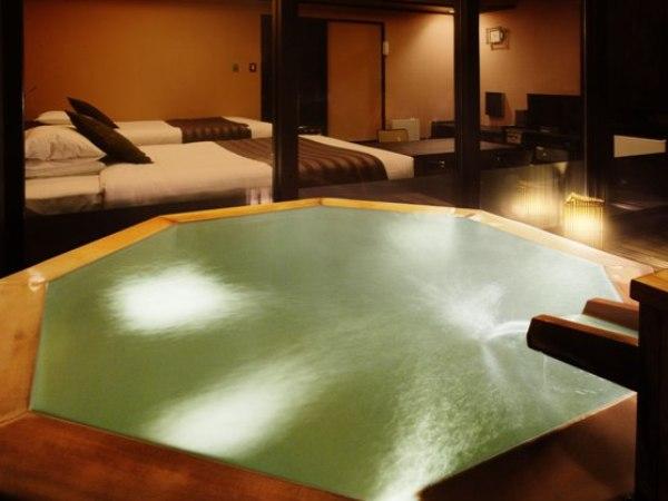 「パノラマスイートルーム」露天風呂、リョウリュウサウナ付のお部屋です