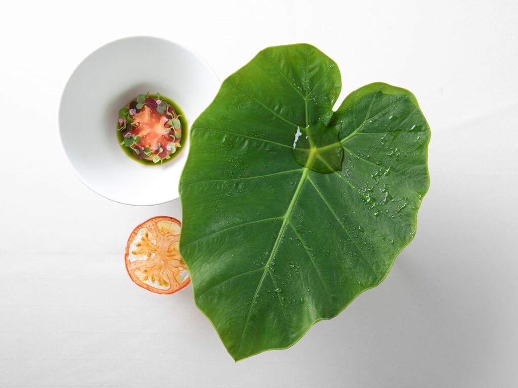 ◆〜季節〜とまと Tranches de tomate et soupe de consommé.