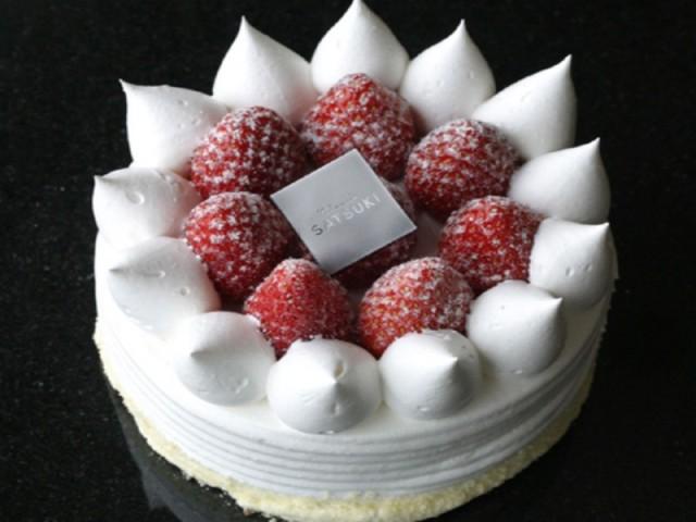 パティスリーSATSUKIのストロベリーショートケーキ(4号 直径12cm 2〜3名用)