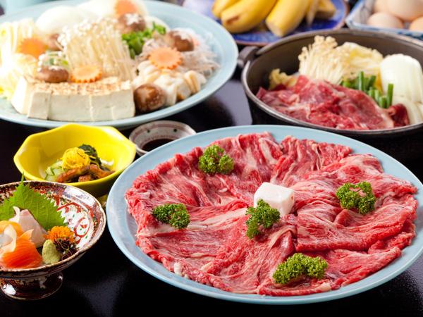 近江牛のすき焼き一例