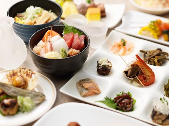 和食党の方もうれしい、海鮮やお漬物・珍味も充実のブッフェ