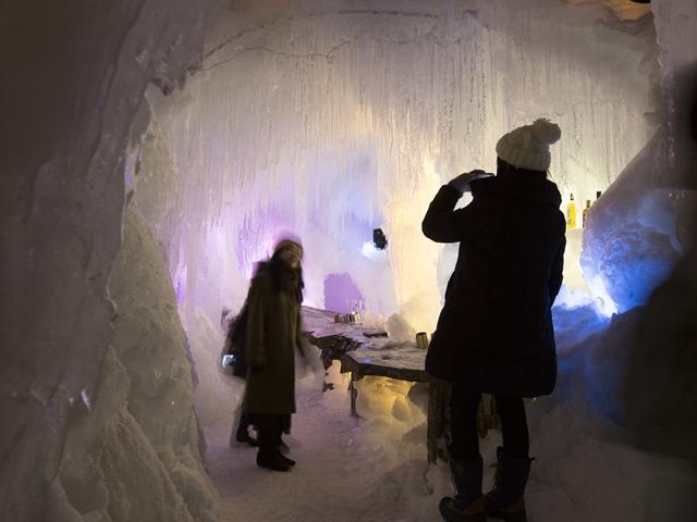 流氷フェスにはアイスバーも登場