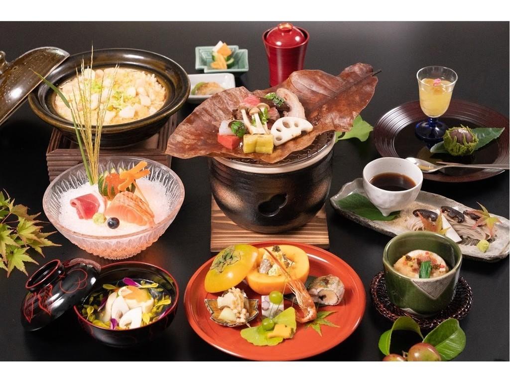 里山懐石『登谷』では四季折々、茂木ならではのお料理をご提供