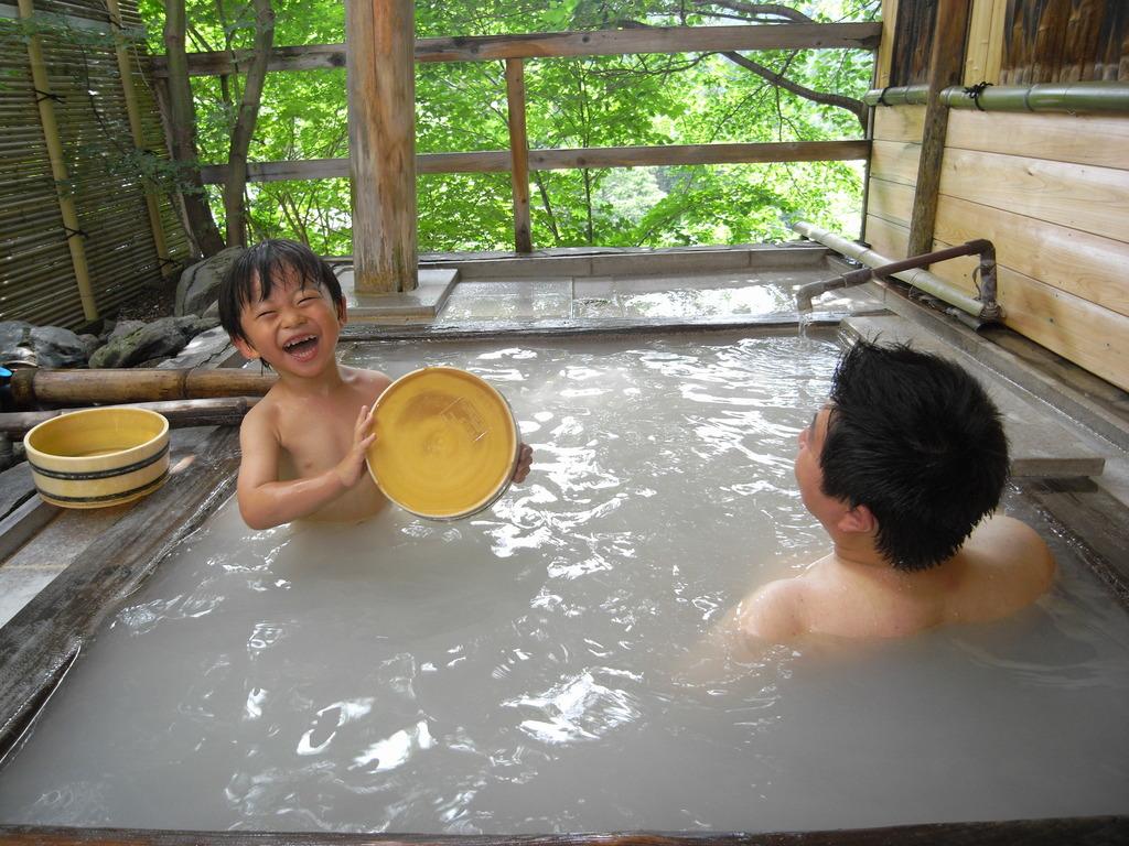 家族で貸切露天風呂