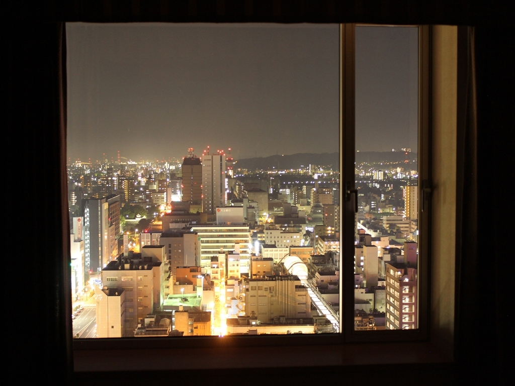 Oita area Night view from room