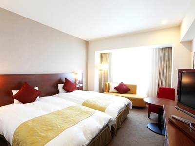 お部屋は、ホテルおまかせ♪48階プレミアフロアのいづれかのお部屋をご案内。