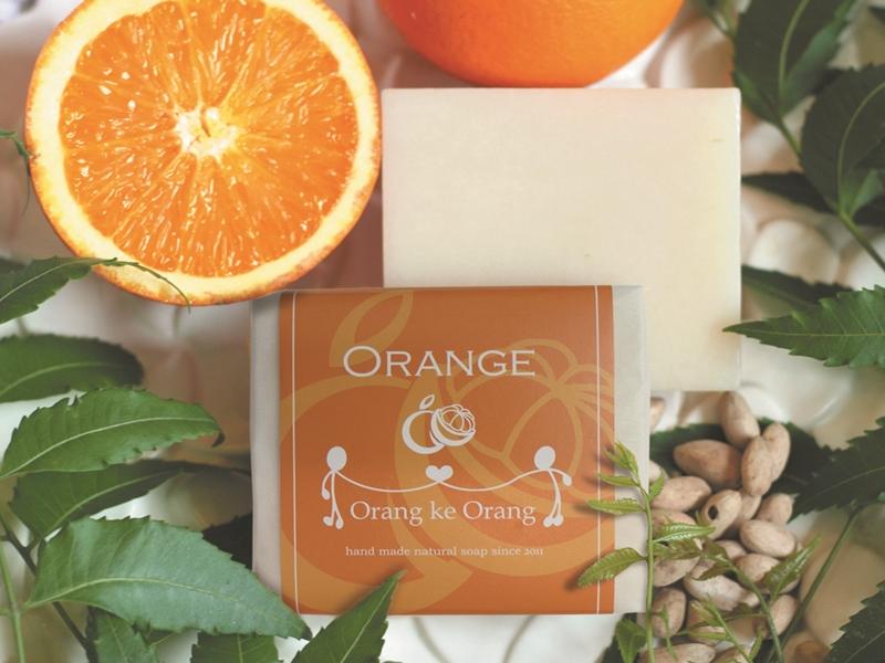 無添加手作り石けん専門店『オラン・ク・オラン』のオレンジ石けんです(イメージ)。