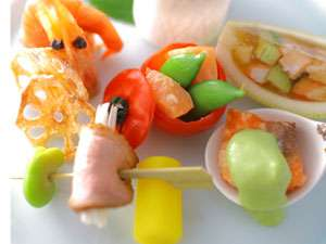 彩り華やかな前菜イメージ『加賀旬彩美味盛り』