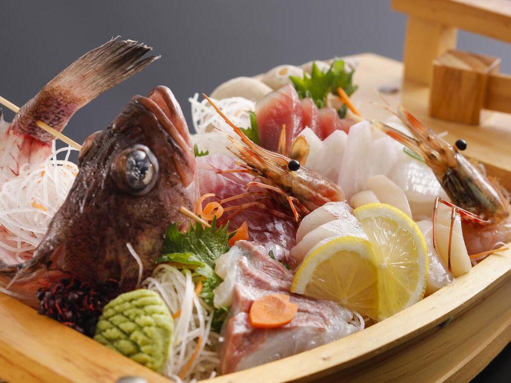 日本海の恵み舟盛