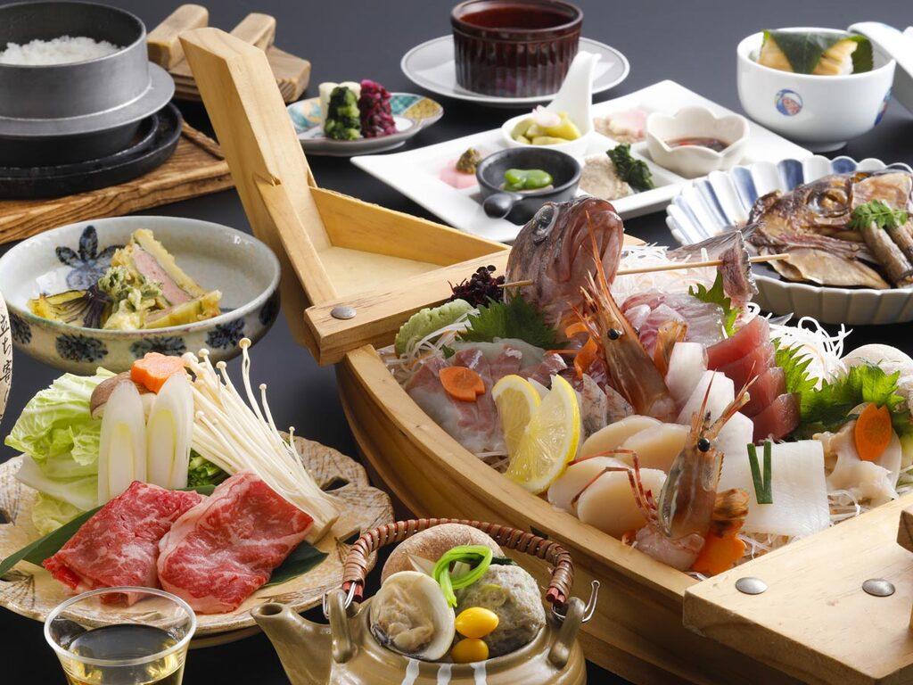 【豪華】日本海の恵み舟盛&のど黒会席