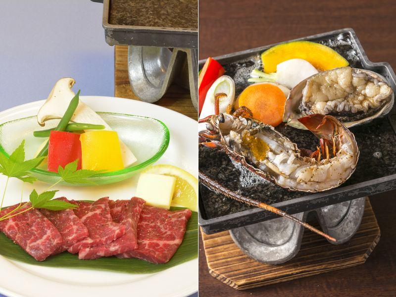 選べる熊野牛 or 2大海鮮石焼