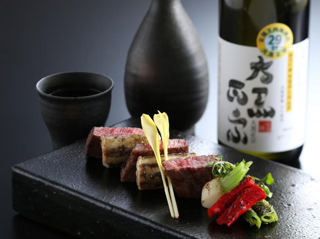 黒毛和牛と堀川牛蒡のステーキ