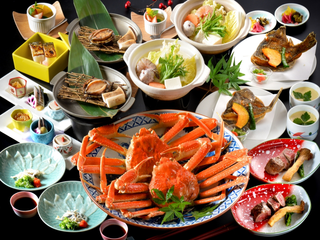 550gズワイガニ付★福井の人気食材が盛り沢山♪(写真は2名様盛り)