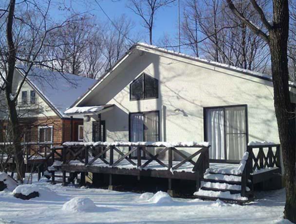 冬でも別荘の中は、あったか
