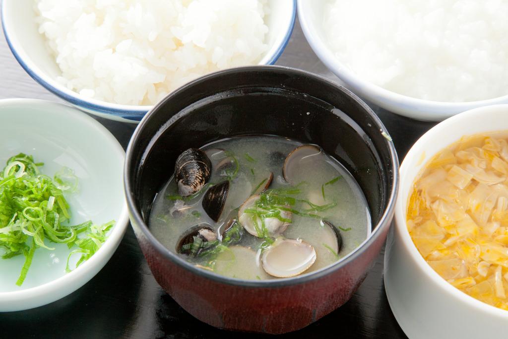 【朝食【しんじ湖産大和しじみ汁をおかわり♪