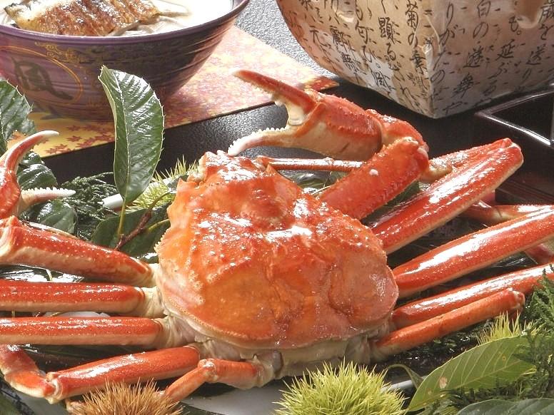 【夕食】山陰、冬の蟹会席♪