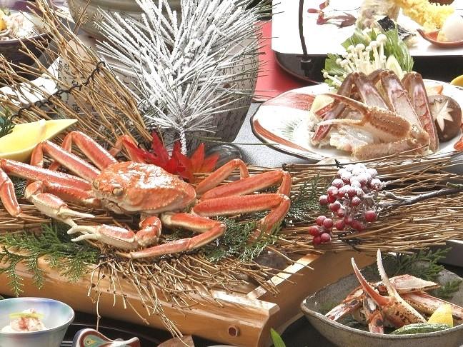 【夕食】贅沢にずわい蟹2杯分♪