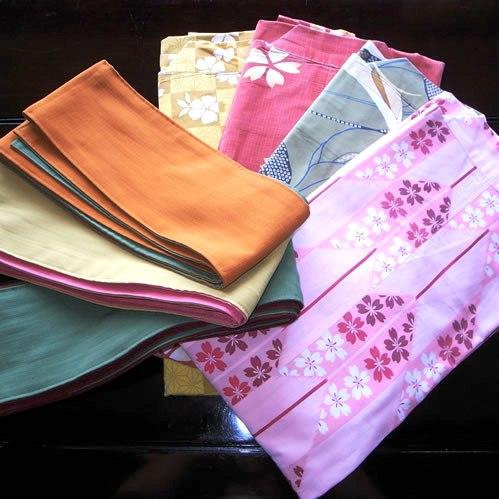 女性用特典の色浴衣