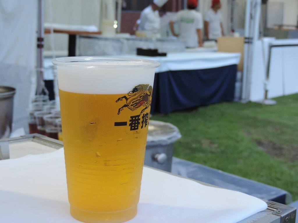 夏はビール♪