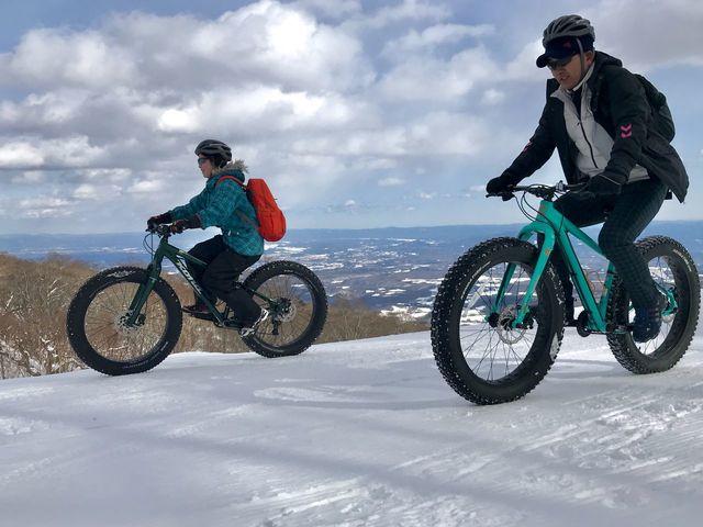 スノーサイクリングツアーで冬を満喫