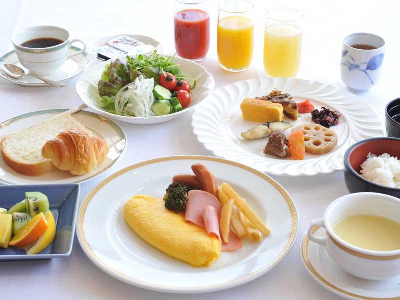 朝食ブッフェ盛り付け例
