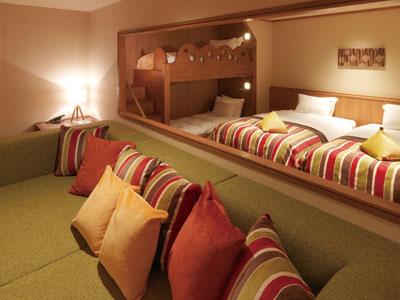 茜の森ファミリーフォース寝室