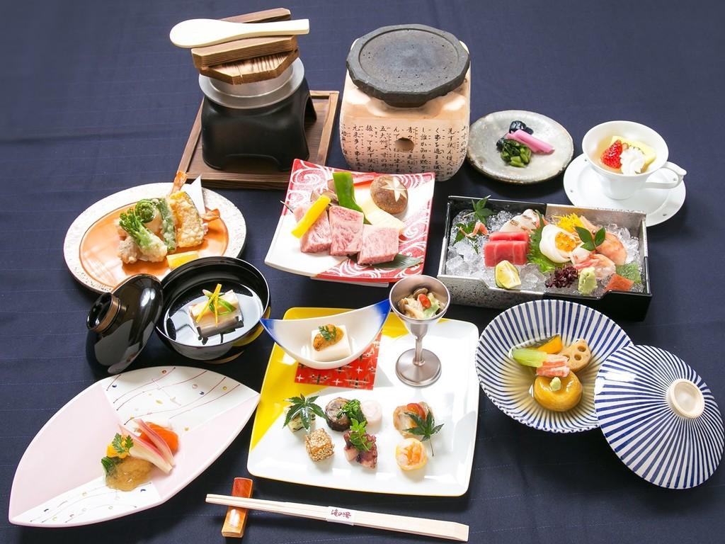 会席料理/蓼科 (お品書き例)