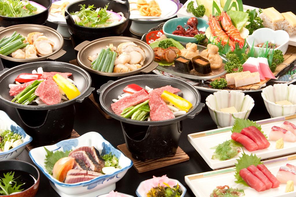 選べる陶板と皿鉢料理