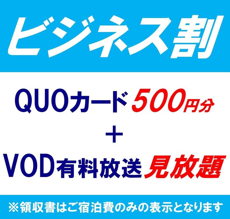 ビジネス割【Quoカード500円+VOD】