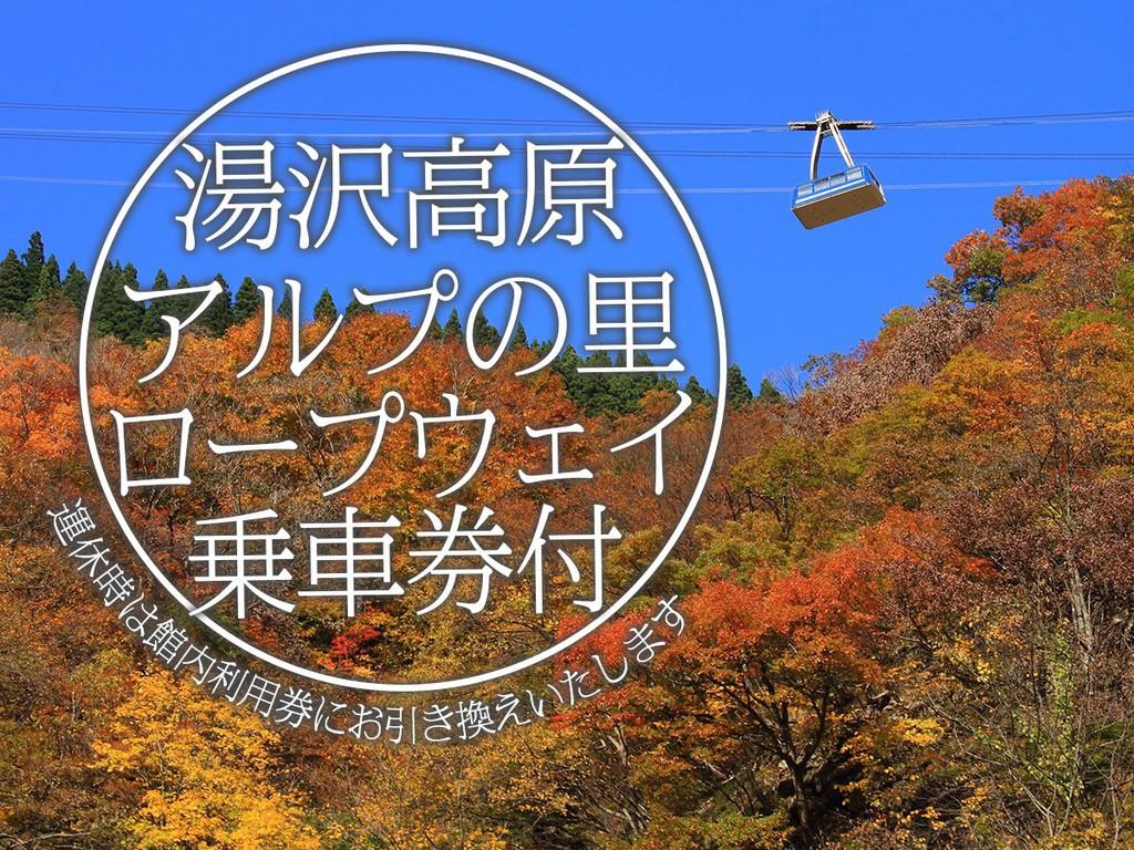 湯沢高原ロープウェイ往復乗車券付!