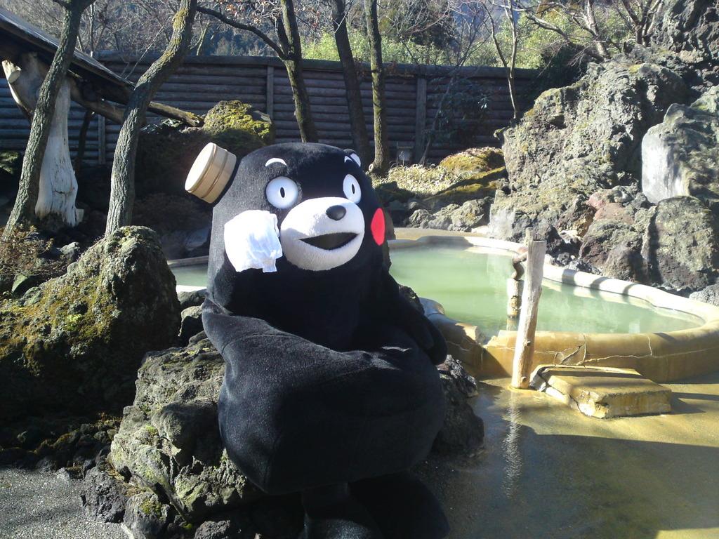 くまモンも入浴した温泉♨でゆっくり〜
