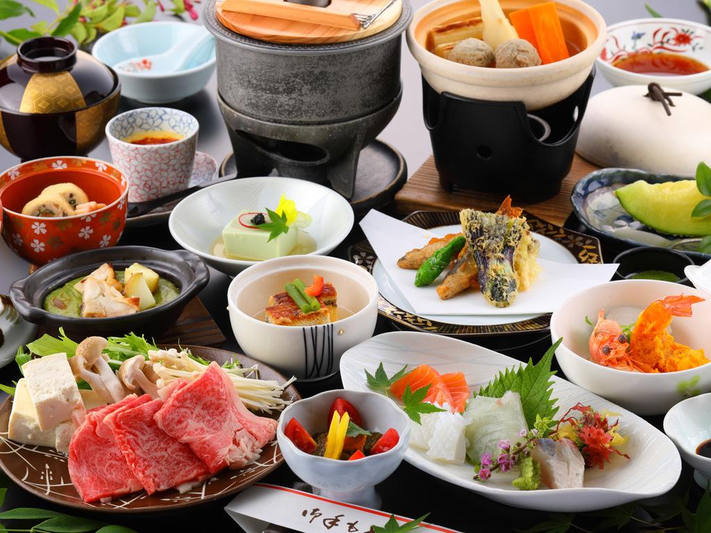 湯豆腐と佐賀産和牛のしゃぶしゃぶ/一例