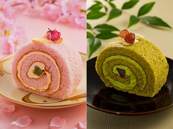 ◇3-4月は米粉桜のロールケーキ、5-6月は抹茶のロールケーキ(イメージ)